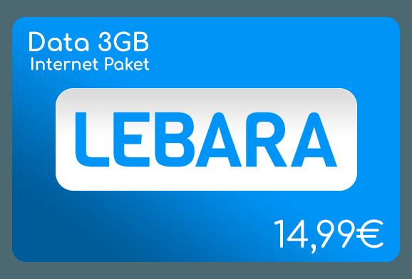 lebara data 3 gb internet aufladen online