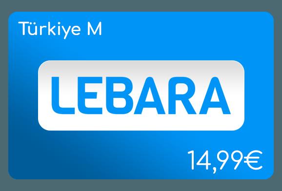 lebara türkiye m flat aufladen online