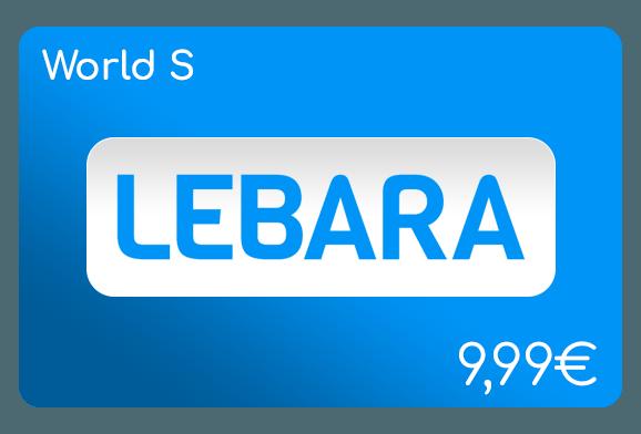 lebara world s flat aufladen online
