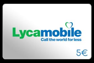 lycamobile 5 euro aufladen online
